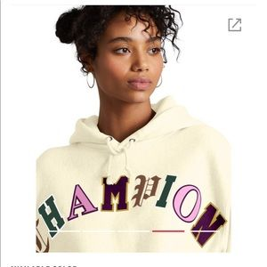NWT CHAMPION CROPPED HOODIE